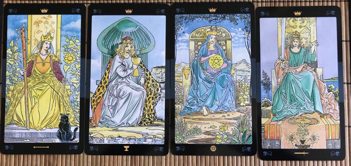 Tolkningar av de fyra drottningarna